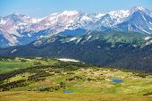 foto of mountain-range  - Colorado Rocky Mountains Panorama - JPG