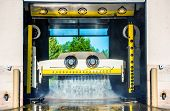 foto of pressure-wash  - Running Touchless Carwash Photo - JPG