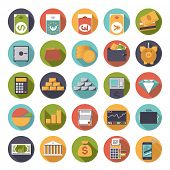 picture of money  - Flat Design Money and Finance Icons Collection - JPG