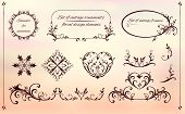 pic of oval  - set of decorative elements of round - JPG