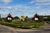 pic of royal botanic gardens  - Traditional thai architecture in the Lanna style Royal Pavilion at Royal Flora Expo Chiang Mai Thailand - JPG