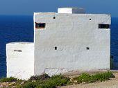 image of emplacements  - Fortified Pillbox at Qawra,  KONICA MINOLTA DIGITAL CAMERA - JPG