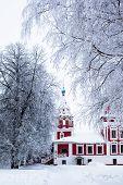 picture of uglich  - White church in winter in Uglich in Russia  - JPG