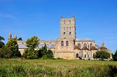 stock photo of church-of-england  - Tewkesbury Abbey also known as The Abbey Church of St Mary the Virgin Tewkesbury Gloucestershire England UK Western Europe - JPG