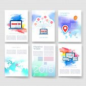 pic of brochure  - Vector brochure design templates collection - JPG