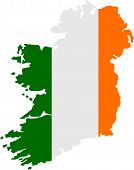 pic of ireland  - Vector illustration of a map of Ireland - JPG