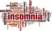 stock photo of hypertrophy  - Insomnia word cloud concept - JPG