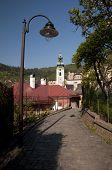 picture of banska  - The old historical candelabre in the streets of Banska Stiavnica - JPG