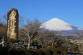 pic of mount fuji  - Mount Fuji located on Honshu Island - JPG