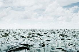 picture of economy  - close up view of cash money dollars bills in amount - JPG