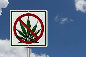 pic of marijuana leaf  - Driving Under the Influence of Marijuana A road highway sign with a marijuana leaf with sky background - JPG