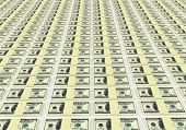 stock photo of 100 dollars dollar bill american paper money cash stack  - Money background from dollars usa - JPG