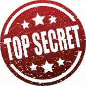 stock photo of top-secret  - Top secret red rubber stamp - JPG