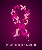 picture of causes cancer  - Breast cancer design over purple background - JPG