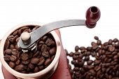 Постер, плакат: Fresh Coffee Bean And Coffee Bean Grinder