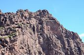 stock photo of canary  - Volcanic Rock Basaltic Formation in Gran Canaria Canary Islands  - JPG