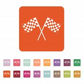 picture of karts  - The checkered flag icon - JPG