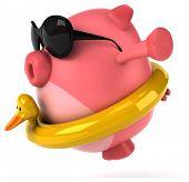 stock photo of floaties  - Fun pig - JPG
