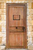 pic of door  - Old brown door with blank vintage door - JPG