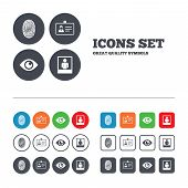 pic of fingerprint  - Identity ID card badge icons - JPG