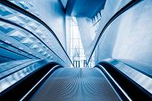 pic of escalator  - escalator of modern office building - JPG