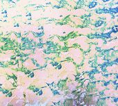 foto of psychedelic  - abstract ink colorful pattern of a psychedelic design - JPG