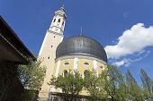 stock photo of bavaria  - Small church with onion tower in Bavaria Germany - JPG