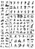 image of parkour  - various sports black people icons on a white background - JPG