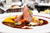 pic of roast duck  - Roasted duck fillet with carrot - JPG