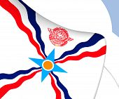 image of mesopotamia  - 3D Flag of the Assyria - JPG