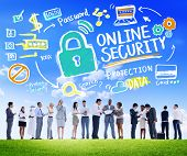 image of security  - Online Security Protection Internet Safety Business Communication Concept - JPG