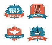 stock photo of memorial  - Memorial Day design over  background - JPG
