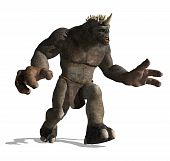 stock photo of lurch  - A gigantic lurching troll is looking for prey  - JPG