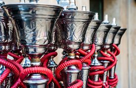picture of hookah  - traditional arabic shisha pipes hookah - JPG