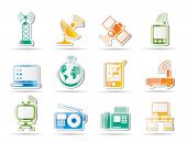 picture of televisor  - communication and technology icons  - JPG