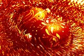 image of tawdry  - red christmas balls and shiny spangle soft - JPG