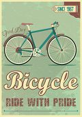 ������, ������: Vector poster with the bike in grunge style