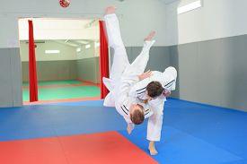 picture of judo  - Impressive judo move - JPG
