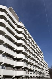 picture of social housing  - Apartment block from the seventies - JPG