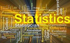 picture of statistician  - Background concept wordcloud illustration of statistics glowing light - JPG