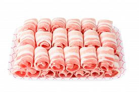 picture of pork belly  - Plane Samgyeopsal sliced frozen Pork belly meat - JPG