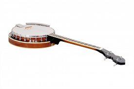 stock photo of banjo  - The image of a banjo - JPG