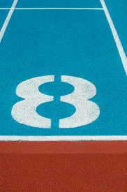 picture of olympiade  - Athletics Track Lane in the stadium No8 - JPG