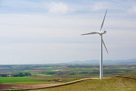 pic of windmills  - Windmill for electric power production - JPG