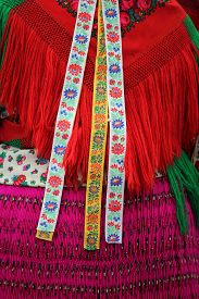 image of national costume  - Woman is wearing colorful hungarian national costume - JPG