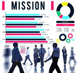 stock photo of bull rushes  - Mission Solution Target strategy Vision Concept - JPG