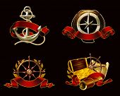 Marine Emblem set on black, 10eps