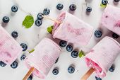 Blueberry Ice Cream Popsicles poster