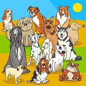 Pedigree Dogs Cartoon Characters Group poster