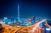 Night Dubai Downtown Skyline, Dubai, United Arab Emirates poster